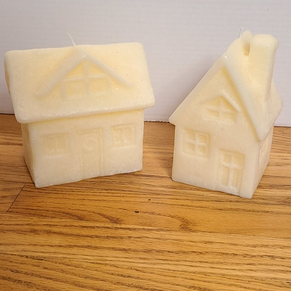 Pottery Barn Village House Christmas candles